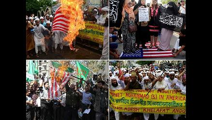 Imágenes de las protestas contra EEUU en el Medio Oriente