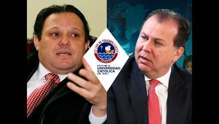 PUCP cuestiona reunión entre Carlos Mesía y Natale Amprimo