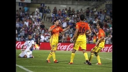 Lionel Messi anota un doblete en goleada de Barcelona 4-1 a Getafe