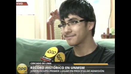 Adolescente bate récord histórico con ingreso a San Marcos