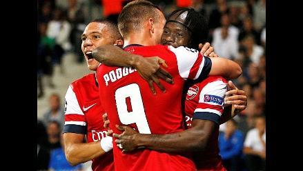 Arsenal inicia la Champions venciendo de visitante al Montpellier