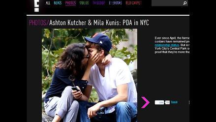 Ashton Kutcher vive apasionado romance con Mila Kunis