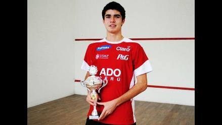 Peruano Diego Elías logró título de Torneo Panamericano Juvenil de Squash