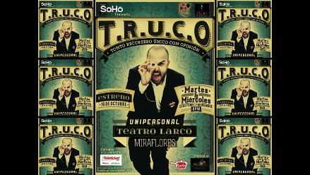 T.R.U.C.O., un show que desafía la razón a cargo del mago Plomo