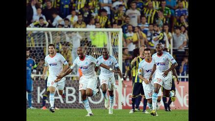 Olympique de Marsella empató 2-2 con Fenerbahce por la Europa League