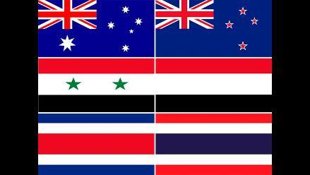 Banderas de países que producen confusión entre las personas