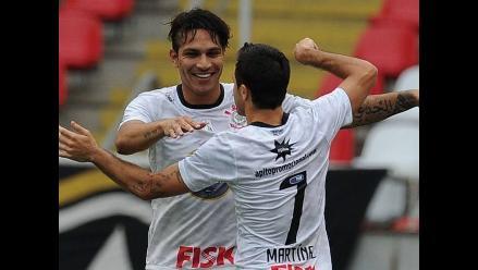 Paolo Guerrero marcó su primer gol con el Corinthians