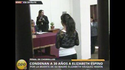 Elizabeth Espino apelará condena de 30 años en su contra