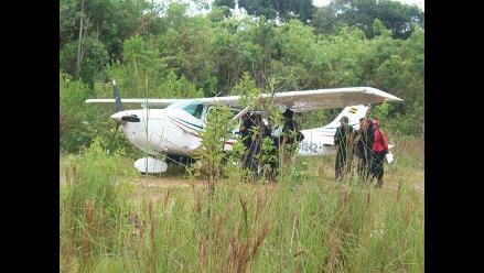 Intervienen avioneta con 194 kilos de droga en Ucayali