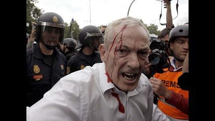 Más de 3000 personas protestaron frente a Congreso español