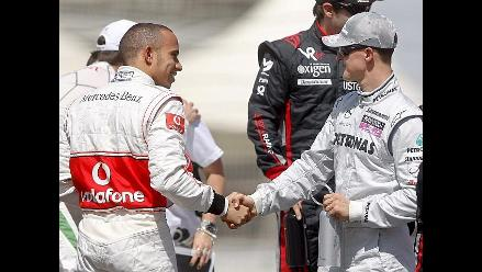 Lewis Hamilton llega a Mercedes y Michael Schumacher se aleja