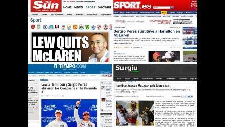 Fórmula Uno y fichajes de Hamilton y Pérez capturan la atención mundial