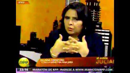 Ministra Jara pide autorregulación a medios ante caso Ruth Sayas