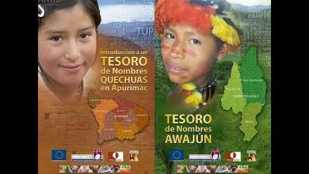 Listado de nombres en quechua y awajún tendrán registradores civiles