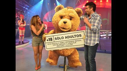 Ted llegó a Lima antes del estreno de su película