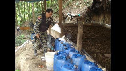 Huánuco: Policía destruye tres toneladas de hoja de coca en Monzón