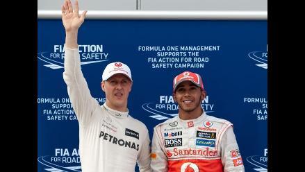 Lewis Hamilton: ´No voy a reemplazar a Schumacher, es una leyenda´