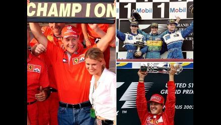 Michael Schumacher y un repaso de sus 7 campeonatos en la Fórmula Uno