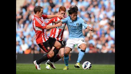 Manchester City goleó 3-0 al Sunderland por la Premier League
