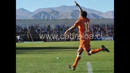 Juan José Barros marcó en la goleada del Cobreloa sobre Cobresal