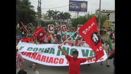 Cajamarca: Este lunes se reinician protestas contra el Proyecto Conga