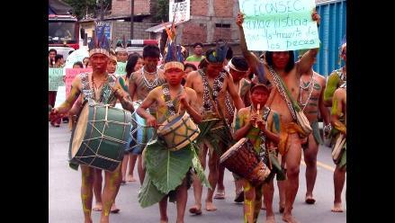 Decenas de Asháninkas realizaron una marcha ambientalista en La Merced