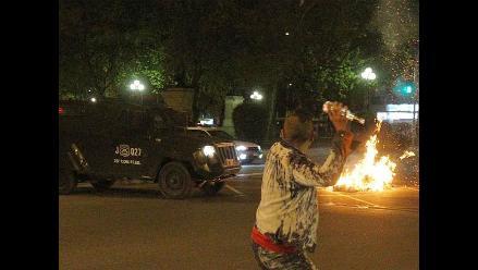 Protestas por ley que condena a quienes cometan delitos en manifestaciones