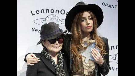Yoko Ono otorga Premio Lennon por la Paz a Lady Gaga