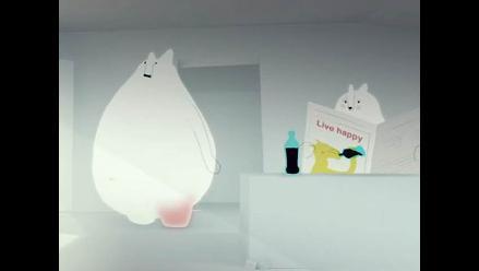 Lindos osos son utilizados en campaña contra el consumo de gaseosas