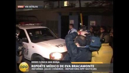 Eva Bracamonte abandonó clínica San Borja