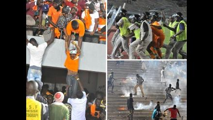 Didier Drogba y su selección vivieron momentos de terror en Senegal