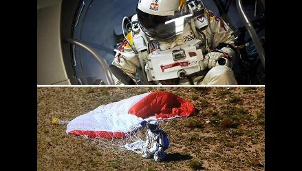 Felix Baumgartner superó la velocidad del sonido en caída libre