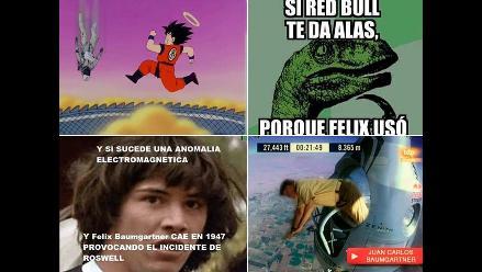 El salto de Felix Baumgartner víctima de los memes de Internet