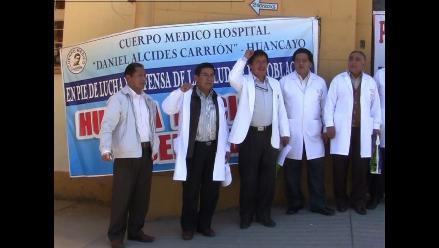 Huancayo: Médicos firmes en su lucha por mejores condiciones laborales