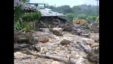 Rescatan restos de una víctima del aluvión en Tarapoto