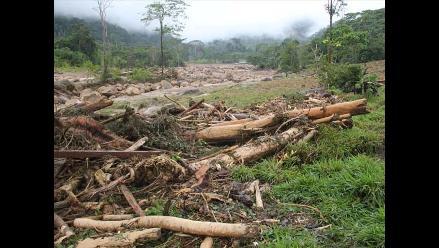 Rescatan cinco cadáveres tras aluvión en Tarapoto