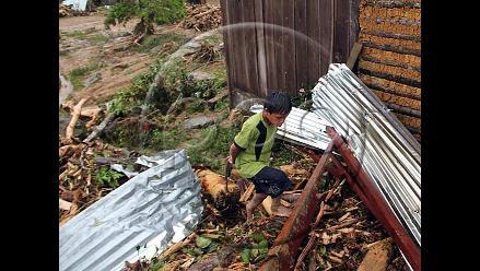 Trasladan ayuda humanitaria para sobrevivientes tras aluvión en Picota