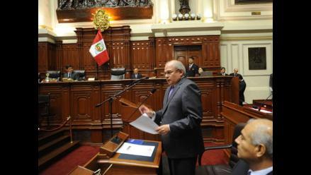 Pleno del Congreso rechazó interpelación a Ministro de Defensa