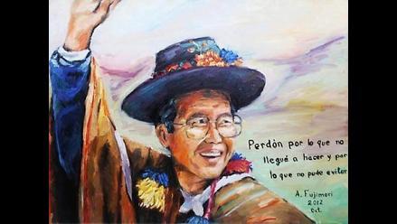 Polémica por autorretrato de Fujimori pidiendo perdón