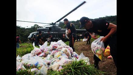 Llevan ayuda humanitaria a zona afectada por alud en San Martín