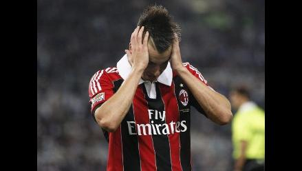 Milan perdió ante Lazio y sumó segunda derrota consecutiva en Serie A