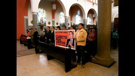 Cañete: Ofician misa por la salud de Alberto Fujimori