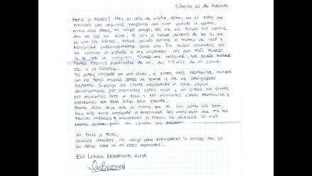 Publican en Twitter supuesta carta de Eva Bracamonte
