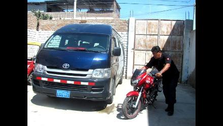 Trujillo: Dos heridos deja violento choque entre combi y motocicleta