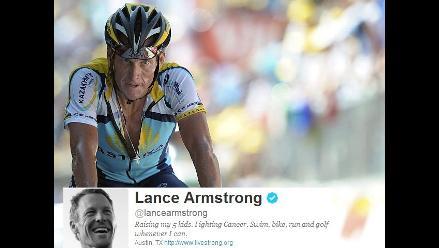 Lance Armstrong borró en su Twitter toda referencia a sus siete Tour