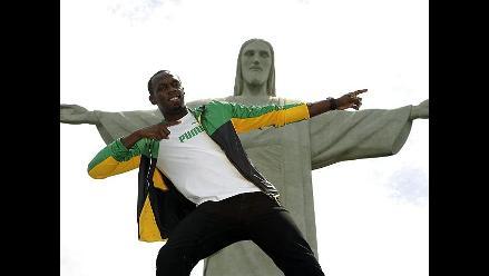 Usain Bolt se lució en el Cristo Redentor de Río Janeiro