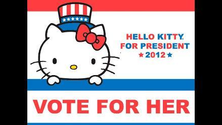 Hello Kitty lanza su candidatura y está buscando su vicepresidente