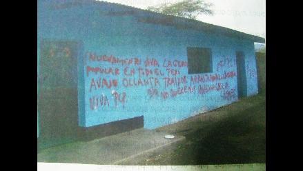 Lambayeque: Aparecen pintas de Sendero Luminoso en 2 colegios de Olmos