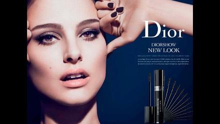 Vetan anuncio de Christian Dior por retocar pestañas de Natalie Portman