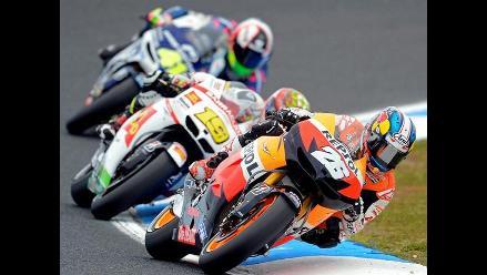 Pilotos calientan motores para el MotoGP Australia